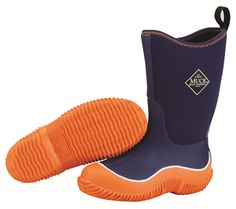 The Original Muck Boot Company Navy & Orange Hale Boot - Toddler & Kids Kids Muck Boots, Muck Boot Company, Unique Gifts For Kids, Boots Store, Comfortable Boots, Kid Shoes, Snug Fit, Ugg Boots, Boy Outfits