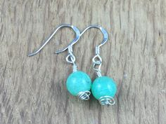 Your place to buy and sell all things handmade Gemstone Earrings, Drop Earrings, Different Skin Tones, Artificial Stone, Beautiful One, Earrings Handmade, Stamp, Gemstones, Sterling Silver