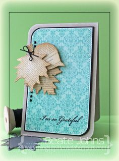 CAS card with @Mft Stamps & Die-namics and @Want2Scrap Company rhinestones.