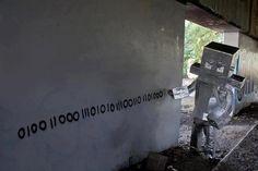 If robots wrote graffiti!