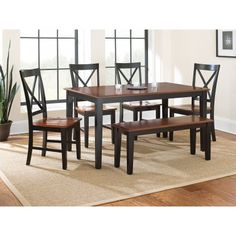 Steve Silver Kingston 6 Piece Dining Table Set