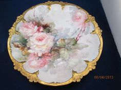 """Stunning Goa France Hand Painted 13"""" Charger picclick.com"""