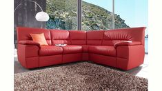 m bel arenz sofa in trapezform himolla cumuly in rot. Black Bedroom Furniture Sets. Home Design Ideas