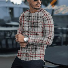 Nylons, Plaid Gris, High Collar Dress, Mens Jumpers, Creation Couture, Style Casual, Latest Fashion Clothes, Fashion Online, Shirt Sleeves