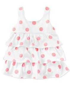 Carter's Baby Girls' Sleeveless Ruffled Top - Kids Baby Girl (0-24 months)