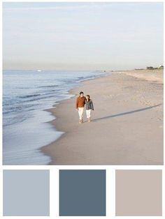 A Color Specialist in Charlotte: Capturing Those Coastal Colors Beach Colors: Sherwin Williams Rain, Refuge and Sand Dune paint color Coastal Colors, Coastal Style, Coastal Decor, Coastal Color Palettes, Nautical Paint Colors, Beach House Colors, Coastal Paint Colors, Colour Palettes, Nautical Theme
