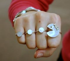 PacMan rings, lol!
