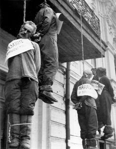 When the Germans entered Kharkov, the Unkraine in October 1941 they hanged…