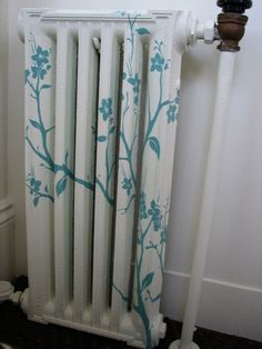 Pretty Painted Radiator - I don't have radiators currently, but I hope to one day!