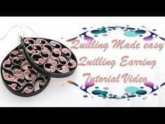 DIY Craft Ideas-How to make Beautiful Quilling Earring Pink/black New design -Paper Art Quilling - YouTube