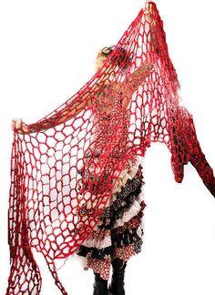 Boho crochet shawl