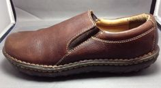 Canyon River Blues Shoes 7.5 Womens Leather Slip On Loafer Brown