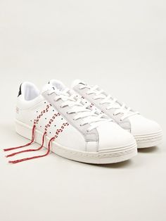 add some stitching to a pair of sneakers - Adidas Originals x Y's Men's White Super Position Sneakers | oki-ni