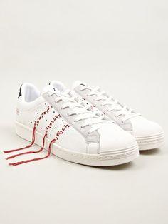 adidas Originals x Y's Men's White Super Position Sneakers | oki-ni