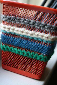 Papelera Crochet