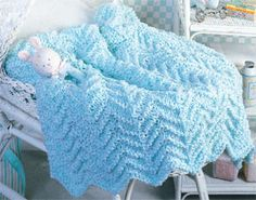 Whisper Soft Baby Knit Afghan Pattern ePattern
