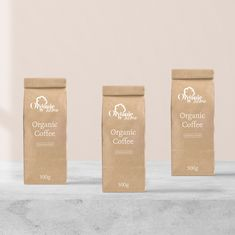 - Organic Home Coffee Bag - Logo Process, Coffee Packaging, Brand Identity, Packaging Design, Pattern Design, Organic, Graphic Design, Texture, Drinks