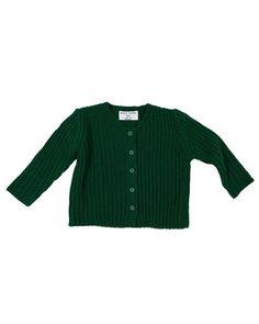 Button Closure Full Sleeve Knit Cardigan, Green/Ivory/Black-Top, Outerwear, Cardigan-benne bonbon