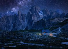 A night in summer long ago the stars were falling from the sky by carsten bachmeyer / Another Earth, Night Scenery, Wonderful Dream, Falling From The Sky, Cold Night, Milky Way, Stars And Moon, First Photo, Beautiful Pictures