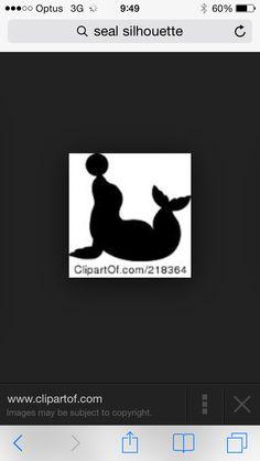 Seal silhouette Circus Nails, Seal, Pandora, Nail Art, Silhouette, Nail Arts, Nail Art Designs, Harbor Seal