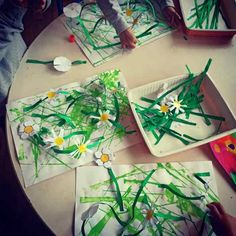 Jardin suspendu de printemps Feuille A3, Plastic Cutting Board, Orange, Blog, Gardens, Paintings, Spring, Arts Plastiques, Visual Arts
