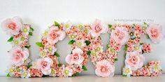 Wedding Decor - Spring Wedding Decor - Love Centerpiece - Floral Centerpiece - OOAK Wedding Decor - Spring Flower Decor - Love Sign Decor
