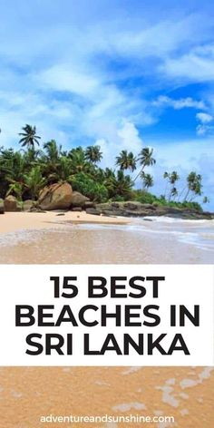 Discover 15 of the best beaches in Sri Lanka to include in your Sri Lanka itinerary. From the untouched east coast to popular Sri Lankan beaches in the south, these are some of the most beautiful beaches in Sri Lanka | Trip to Sri Lanka | Sri Lanka Travel #srilanka #beaches Beach Adventure, Family Adventure, Adventure Travel, Resorts In Sri Lanka, Sri Lanka Itinerary, Best Family Beaches, Ventura Beach, East Coast Beaches, Tokyo Japan Travel