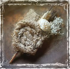 Country Comfort Boutonniere  Rustic Weddings  by sparkleandposy, $14.00