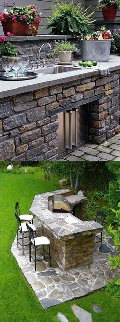 Find and save ideas about Outdoor kitchen Ideas on Nouvelleviehaiti.org | See more ideas about Outdoor kitchen layout , Outdoor Kitchen Floor Plans and How to Build Modern Outdoor Kitchen #outdoorkitchens