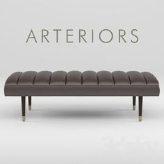 models: Other soft seating - Bench Arteriors Christophe End Of Bed Bench, Bed End, Bench Furniture, Art Deco Furniture, Ottoman Bench, Living Furniture, Furniture Design, Living Room Sofa Design, Soft Seating