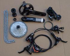 shimano  Deore XT M8000 Drivetrain bike bicycle mtb Group set Groupset 1x11s 11speed vs sram x0 x1 xx1 //Price: $756.95 & FREE Shipping //     #hashtag4 Mtb, Bicycle, Group, Gears, Stuff To Buy, Free Shipping, Watch, Shopping, Bicycle Kick