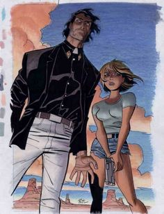 Jesse Custer & Tulip O'Hare from Preacher by Bruce Timm