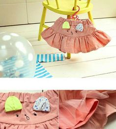 Frilled Bunny Skirt  Color Me WHIMSY.