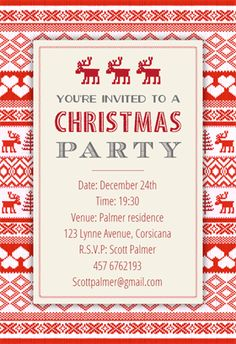 free invitations templates free | free christmas invitation, Party invitations