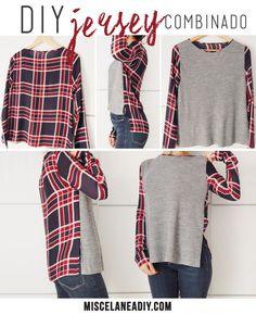 DIY sewing | Jersey combinado                                                                                                                                                                                 Más