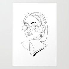 look Minimal Feminine Line Drawing Print, Canvas, Metal, Framed Wall Art Noir Gallery Framed Wall Art, Framed Prints, Canvas Prints, Art Prints, Folded Cards, Line Drawing, Art Inspo, Line Art, Art Drawings