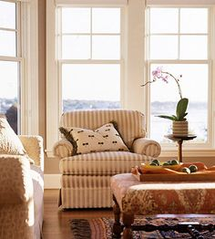 Cottage-Style Bay Windows (great sub for transoms)