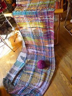Ravelry: nickolenas saori weaving yardage.  CENTERING WITH FIBER: Amazing work of Jill Nickolene Sanders..  Gorgeous colors