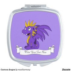 Cartoon dragon mirror for makeup