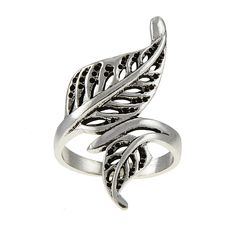 Steelza's Sterling Silver Handmade Leaf Ring