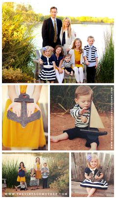 Nautical Photo Shoot {www.thevintagemother.com} // the best family photos and theme I have seen in a long time!