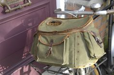 Bicycle Luggage 2 – Sologne Fishing Creel on 1946 Porteur Bicycle