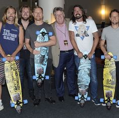 """""""""""Sony Music Australia commissioned me to design some skateboards to present to the Foo Fighters celebrating platinum sales of their latest LP. Sonic Highways. Done in the style of..."""