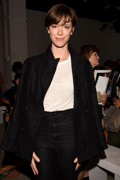 The Front Row Look of the Day: Rebecca Hall's Hybrid Pixie at Tome