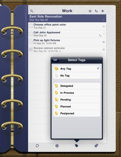 Todo for iPad...a great way to keep track of all the things you need to get done for the day. Syncs beautifully with Todo for iPhone and can even sync with Dropbox. Also integrates with Todo for Mac.