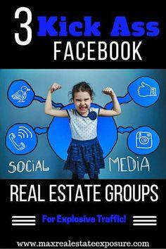 The Best Facebook Real Estate Social Media Groups For Realtors: http://www.maxrealestateexposure.com/best-real-estate-social-media-groups/