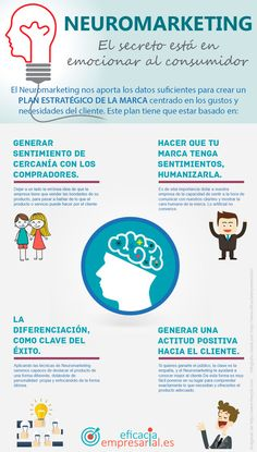 Hola: Una infografía sobre Neuromarketing: el secreto está en emocionar al consumidor. Vía Un saludo