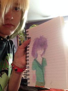 Drawing emo boy.