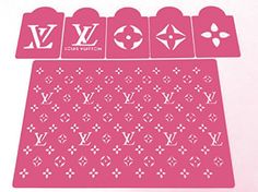 LV. stencils set of 6 pieces by stencilsboutique on Etsy