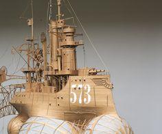 Large 1,70 bu 1,90 meters cardboard and paper steampunk art airship, zeppelin, made by Jeroen van Kesteren. info at: jeroen@invorm.com or Smelik en Stokking galleries The Hague